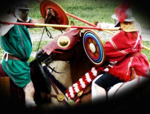 gladiateur spectacle equestre chevalier gaulois cavaliers romains