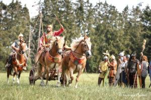 spectacle cavalerie merovingien gaulois romain