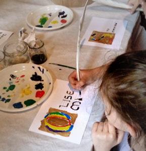 enluminure enfants atelier